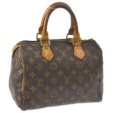 AUTHENTIC LOUIS VUITTON SPEEDY 25 HAND BAG MONOGRAM CANVAS LEATHER M41528 A42245