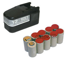 BATTERIA per AEG Atlas Copco 12v b12 1500mah NiMH batteria di ricambio NUOVO