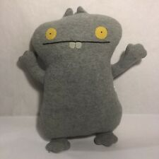 "UglyDoll Babo Plush Grey 12"" Ugly Doll Stuffed Toy Animal Fleece Gray"