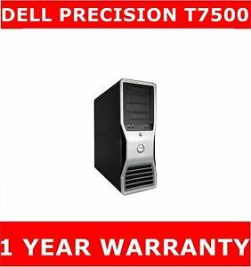 DELL PRECISION T7500 XEON 3.06GHZ  500GB SSD 2TB 48GB RAM QUADRO FX4800 1.5GB