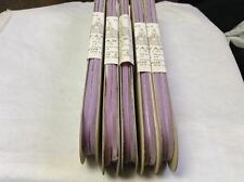 "30 Yards Lavander 1/4"" Bouffante Velvet Ribbon Fabric Made in France 100% Rayon"