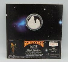 STAR WARS 1oz. .999 SILVER ~ Rarities Mint 10th Anniversary Coin Han & Chewbacca