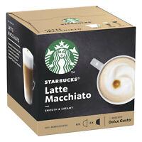 12 x Starbucks LATTE MACCHIATO coffee pods capsules by Nescafe Dolce Gusto