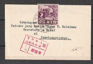 Dutch Indies Japan Occupation Dai Nippon Kreisler PEM SANTAR censor small cover