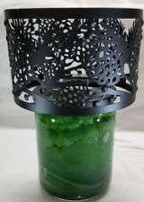 Yankee Candle Topper BLACK METAL PINECONE Metal Shade Barrel Medium Large Jar