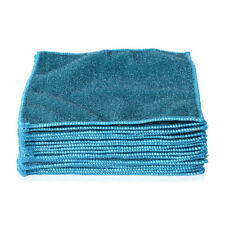 Double Sided Microfiber Cleaning Cloth Fiber Kitchen Dish Towel Blue Set of 20