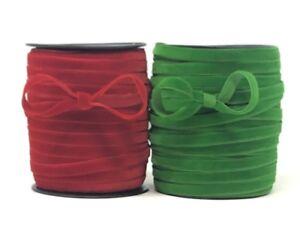 Bertie's Bows 10mm Christmas Velvet - price per metre
