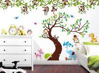 Wandtattoo Wandsticker Wandaufkleber Kinderzimmer Elefant Affe Zebra Baum Wald