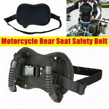 Motorcycle Passenger Safety Belt Rear Seat Grab Grip Handle Belly Strap Armrest