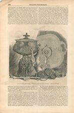 Exposition Universelle Bijouterie & Orfèvrerie La Cointe Vase Arabe GRAVURE 1855