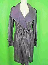 ELIE TAHARI Indigo Perforated Leather Trench Coat 6