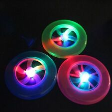 Flying LED Glow in The Dark Light up Frisbee Outdoor UFO Disc Kids Pet Dog Toy