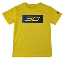 Under Armour Boys S/S Yellow & Blue Dry Fit Top Size 5