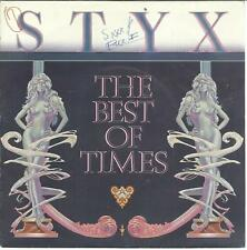 45TOURS  2 TITRES / STYX  THE BEST OF TIMES           B6