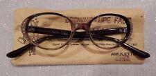 Vintage Comet Amulette Jewel Brown Taupe Fade 44/20 Jeweled Eyeglass Frame NOS