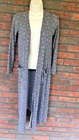 Lularoe Sarah Sweater XS Gray Long Open Cardigan Duster Stretch Jacket Pockets
