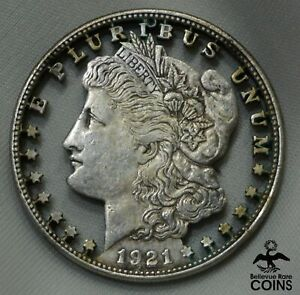 1921 UNITED STATES SILVER MORGAN DOLLAR CUT-OUT COIN NOVELTY, JEWELRY