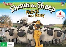 Shaun the Sheep: Flock in a Box (4 Baaarilliant DVD's) (DVD) Brand New