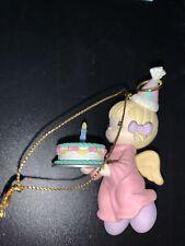 """Vintage Enesco 1995 Precious Moments Artplas Ornament """"Happy Birthday Jesus"""" New"""