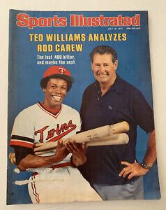 Sports Illustrated Rod Carew Ted Williams HOF 1977 Cover Only 7/18/77 SI