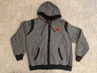 Chicago Bears Mens NFL Pro Line Jacket Size 2XL XXL Fleece Lined Heavy Spell Out