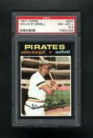 1971 TOPPS #230 WILLIE STARGELL HOF PITTSBURGH PIRATES PSA 8.5 NM/MT+ CENTERED!