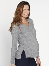 Maternity Jumper | Angel Maternity Knitted Jumper Size S (10) grey top RRP $30