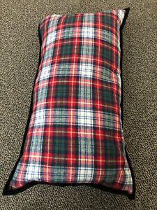 NWT Ralph Lauren Green Red White LONG Plaid Tartan Pillow Cotton Down Insert