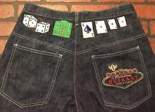 Vegas Gambling Dice Cards Men's Party Jeans Size 34 x 33