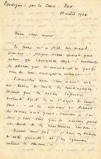 Louis JOUVET / Lettre autographe signée. Ses doutes d'homme de théâtre en 1924
