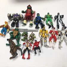 Lot 15 Mixed Action Figures Vtg Tmnt Power Rangers 6� Toys Splinter Turtles