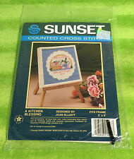 Sunset Counted Cross Stich Kit 1438 A Kitchen Blessing Joan Elliott - NEW