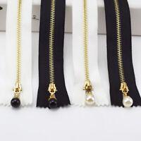 3# 1pcs Length 20/30CM  Gold Teeth Metal Zipper For Sewing Zip Close-End Zips