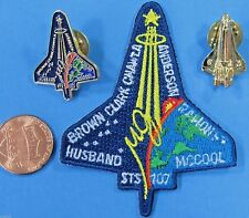 NASA PATCH & 2 PIN LOT '03 vtg STS-107 Space Shuttle COLUMBIA