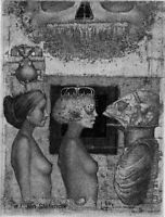 NEW Exlibris CONVERSATION by Konstantin Antioukhin Original Signed