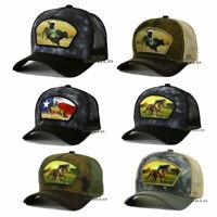 WESTERN RODEO COWBOY Hat Trucker Mesh Tie Dye Snapback Curved Bill Baseball Cap
