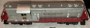 Lionel O Scale PW 2328 Burlington Route GP-7 Diesel Locomotive Engine USA 1955