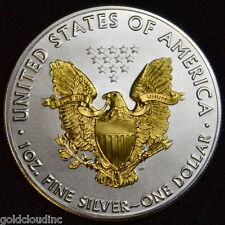 2016 American Silver Eagle 24K Gold Gilded on Both Sides Great Gift Idea