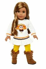 Mustard Turkey Fall Outfit for American Girl Dolls 18 Inch Doll Clothes