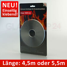 Silikon Dichtlippe Staubschutz Schmutzlippe Glasbodenplatte Kamin Bodenplatte