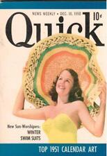 Quick News Weekly Mini Magazine Dec. 18 1950 Winter Swim Suits, Top Calendar Art