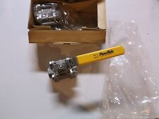 Box of 2 FlowTek Ball Valves 5000 CF8M SS Weld On 1000 WOG STAINLESS STEEL 1/2""