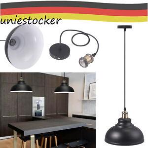 Lampenschirm Industrielampe Fabriklampe Vintage, schwarz, fit E27/E26 universal
