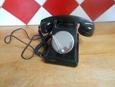 ANCIEN TELEPHONE EN BAKELITE NOIR A MAGNETO 1963 DECO COLLECTION