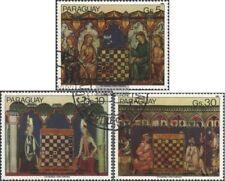 Paraguay 3518-3520 (edición completa) usado 1982 Pinturas de Ajedrez