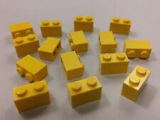 Bulk Lot Lego Part No.3004: Yellow Brick, 1 x 2, Qty x 15