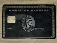 American Express Centurion Black Card with big EMV chip. Ultra RARE !