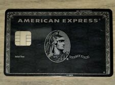 American Express Centurion Black Card with big EMV chip. Ultra RARE !