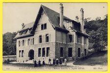 """cpa SAINT PRIX (Val d'Oise) VILLA La """" MAISON BLANCHE """" Façade Sud Est Animé"""
