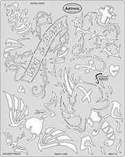 Frasers Kustom Kulture FX Airbrush Stencil Paint Sacred Heart Template Artool